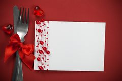 Dinner. Dish decoration meal date table two Stock Photos