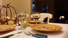 Dinner engagement Royalty Free Stock Images