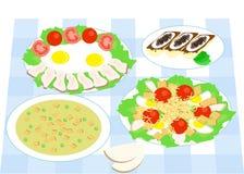 Dinner flat design Stock Image