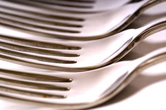 Dinner Forks Stock Photo
