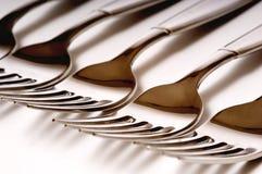 DInner Forks on white Stock Photo
