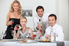 Dinner with friends Royalty Free Stock Images