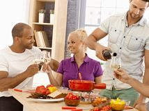 Dinner with friends Royalty Free Stock Photos