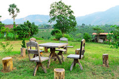 Dinner garden and view of tropical in Loei Stock Images