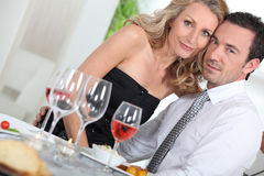 Dinner guests Stock Photography