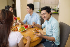 At dinner Stock Photography