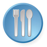 Dinner icon Royalty Free Stock Photography