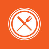 Dinner icon simple vector illustration Stock Image