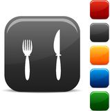 Dinner icons. Royalty Free Stock Images
