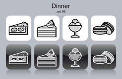 Dinner icons Stock Photos