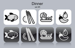 Dinner icons Stock Image