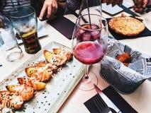 Dinner In Restaurant Stock Photo