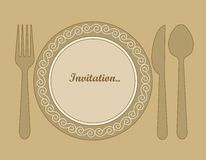 Plate On Wood Texture Stock Illustration Illustration Of Restaurant