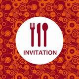 Dinner invitation royalty free illustration