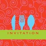 Dinner invitation stock illustration