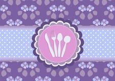 Dinner invitation card stock illustration