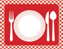Dinner invitation menu Stock Photo
