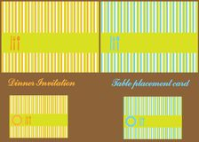 Dinner Invitation Stripes Card Stock Images
