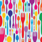 Dinner invitation with utensil silhouette Royalty Free Stock Images