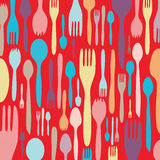 Dinner invitation with utensil silhouette Royalty Free Stock Photo
