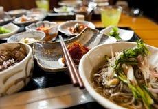 Dinner in Japan Stock Images