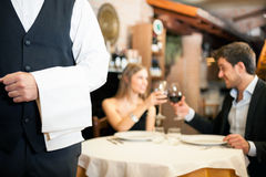 Dinner in a luxury restaurant Royalty Free Stock Image