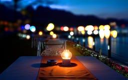 Dinner on mediterranean Sea Royalty Free Stock Photography