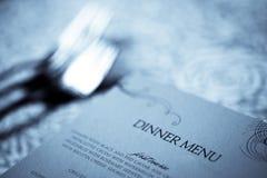 Dinner menu Royalty Free Stock Photos