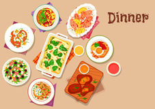 Dinner menu icon for healthy food design Stock Photography
