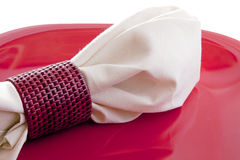Dinner Napkin Top Stock Images