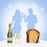 Dinner for the New Year Royalty Free Stock Photos