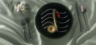 Dinner note Royalty Free Stock Photography