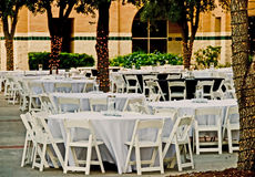 Dinner outdoor on campus Royalty Free Stock Photo