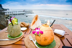 Dinner in Paradise 1 Royalty Free Stock Images