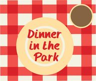 Dinner In The Park Royalty Free Stock Photo