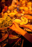 Dinner party. Dinner at Siem Reap, Cambodia Stock Photos