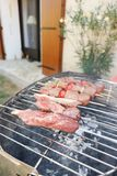 party barbecue assorted delicious grilled meat royalty free stock photography