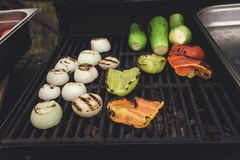 Dinner party, grilled vegetables Royalty Free Stock Photography