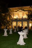 Dinner party in palace. Luxurious evening party in a palace on the island Zofin in Prague Royalty Free Stock Photo