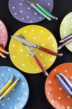 Dinner party table setting Stock Photography
