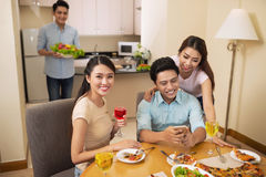 Dinner party Royalty Free Stock Image