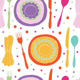 Dinner pattern Stock Image