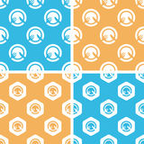 Dinner pattern set, colored Royalty Free Stock Images