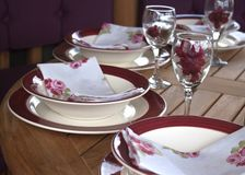Dinner place setting Royalty Free Stock Photos