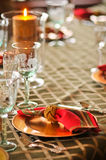 Dinner place setting Stock Photos