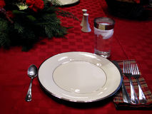 Dinner Place Setting at Table Royalty Free Stock Photo