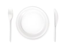 Dinner place setting Royalty Free Stock Image