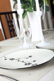 A dinner plate Royalty Free Stock Photo