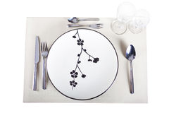 A dinner plate Stock Photography