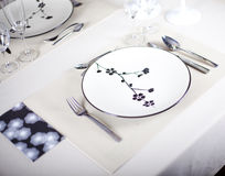A dinner plate. Knife, spoon and fork Royalty Free Stock Photography